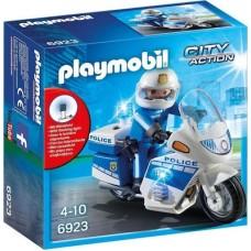 Playmobil Αστυνομική Μοτοσυκλέτα με Φάρο που Αναβοσβήνει 6923