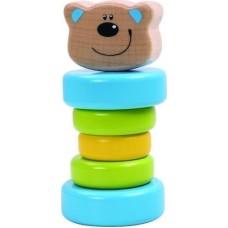 Tooky Toy Ξύλινη Κουδουνίστρα Αρκουδάκι (Κωδικός TKC271)
