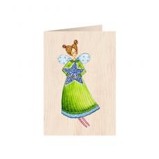 """Κάρτα ξύλινη """"Από Καρδιάς"""""""