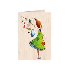"""Κάρτα ξύλινη """"Κάθε Μέρα Είναι Ένα Δώρο"""""""