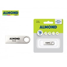 FLASH DRIVE USB 16GB ΜΕΤΑΛΛΙΚΟ MINI ALMOND